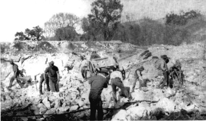 Mining by hand, 19?? - Buckaroo Lane quarry